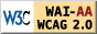 W3C WCAG2AA-Conformation标志